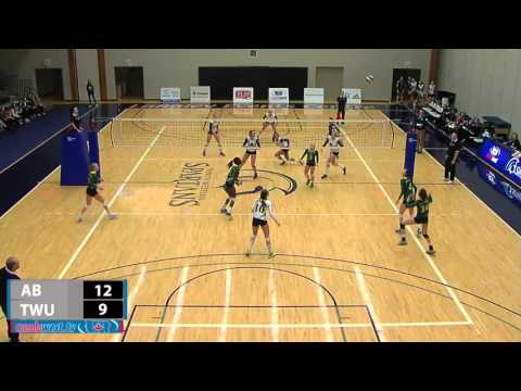 2016-01-08 TWU Women's Volleyball Highlights vs Alberta