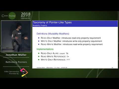 "C++Now 2018: Jonathan Müller ""Rethinking Pointers"""