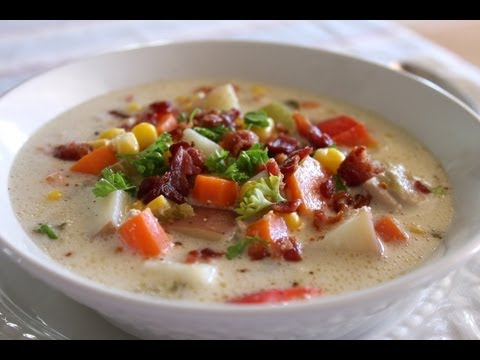 Easy Delicious Chicken Corn Chowder – Great Soup Recipe for Slow Cooker / Crock Pot
