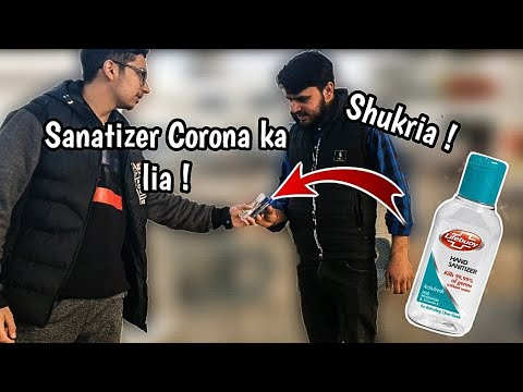Buying 30 Sanatizers and Giving them to random people| Hassan Studio