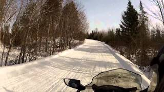 5. Northern Outdoors - Maine - Snowmobiling - Top speed - GoPro HD - Skidoo 550f