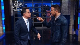 Video Ryan Reynolds Time-Travels Into Stephen's Monologue MP3, 3GP, MP4, WEBM, AVI, FLV Mei 2018