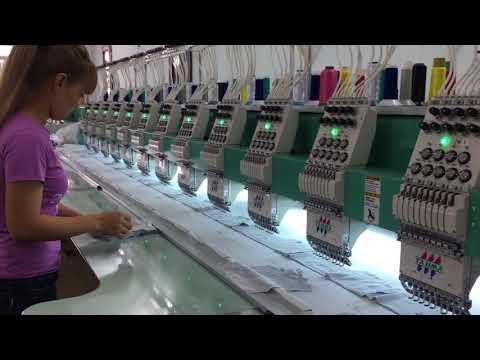 Máy thêu vi tính Tajima của Nhật Bản mới 100% tại xưởng thêu vi tính Thiện Khiêm