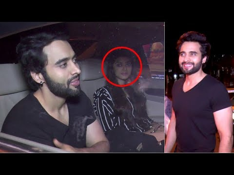 Jackky Bhagnani Spotted At Bastian Restaurant  With His Female Friend