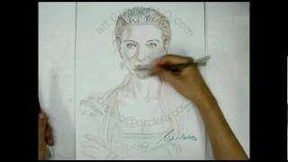 Circle LO's CATE BLANCHETT-Queen 3 minutes sketch 盧啟源 速寫 姬蒂白蘭芝-女王