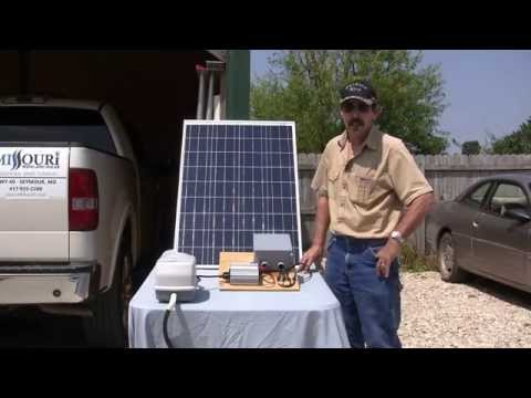 Solar pond aeration no battery system