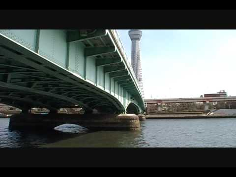 """[Tokyo]Tokyo Sky Tree seen from a bank of the Sumida River."" Image"