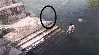 Real Ghost Caught Jumping In Pond | Ghost Caught in Gwalior Fort