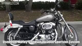 1. 2007 Harley Davidson XL1200C Sportster 1200 Custom