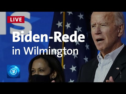 USA: Joe Biden liegt vorn - Ansprache aus Wilmington