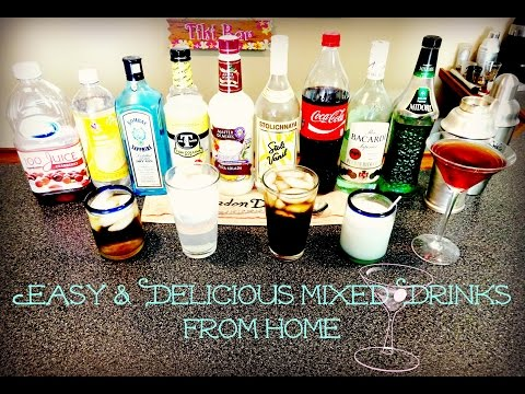 How to Make Easy and Delicious Mixed Drinks from Home | Day 22