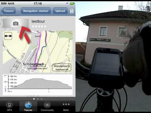 Video of upmove GPS for ski-touring