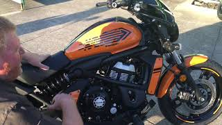3. 2019 Kawasaki EN650 Vulcan S Orange,Unboxing and first look