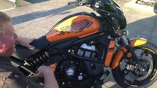 8. 2019 Kawasaki EN650 Vulcan S Orange,Unboxing and first look