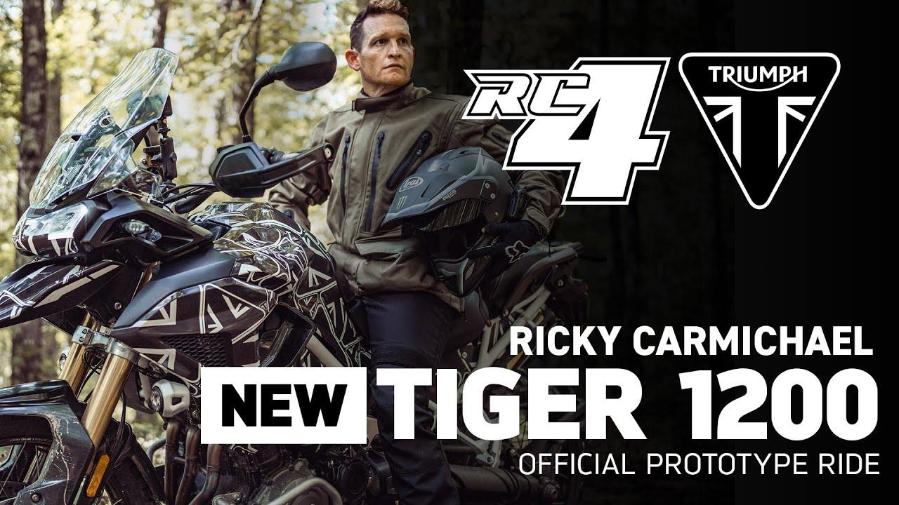 Ricky Carmichael pilota o novo protótipo da Triumph Tiger 1200