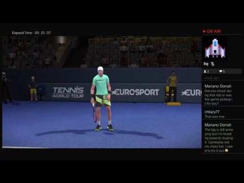 Edmund  vs Federer - Tennis World Tour - PS4 Gameplay 1.04 Update Legend Difficulty