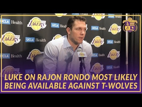 Video: Lakers Interview: Luke On Point Guard Position and Rondo Most Likely Returning Against Timberwolves