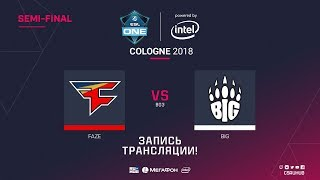 FaZe vs BIG - ESL One Cologne 2018 - map1 - de_dust2 [ceh9, yXo]