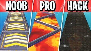 NOOB vs PRO vs HACKER Parkour Course! (Fortnite Creative)