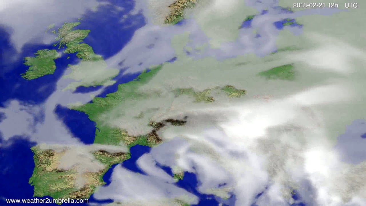 Cloud forecast Europe 2018-02-19