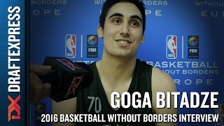 Goga Bitadze Interview from NBA Basketball Without Borders Europe Camp