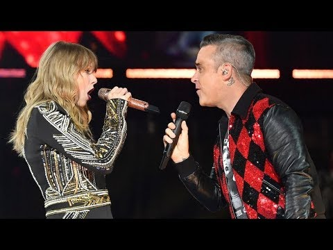 Robbie Williams and Taylor Swift Angels #live at Wembley