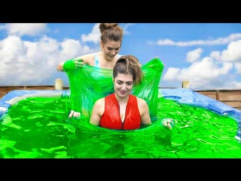 5000 Pounds Of Slime In Hot Tub!