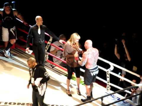 Jeff Monson wedding proposal in the ring after Fight