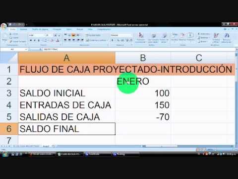 Cómo hacer un Presupuesto / Flujo de Caja (cash flow) en Excel - vídeo 1, planilla gratis