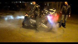 24 Heures du Mans Moto 2015 Ruptures et Burns dans les campings ! - YouTube