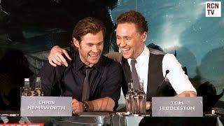Tom Hiddleston & Chris Hemsworth Interview Thor The Dark World Premiere full download video download mp3 download music download