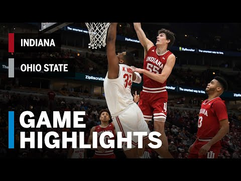Highlights: Buckeyes Hold On vs. Hoosier Rally | Indiana vs. Ohio State | March 14, 2019