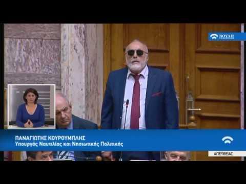 Π.Κουρουμπλής (Υπουργ.Ναυτ.και Νησ.Πολ.)(Συζήτηση για τη διενέργεια προκατ. εξέτασης)(08/03/2018)