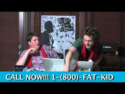 Matt O'Leary & Jacob Wysocki in campaign central for FAT KID RULES THE WORLD