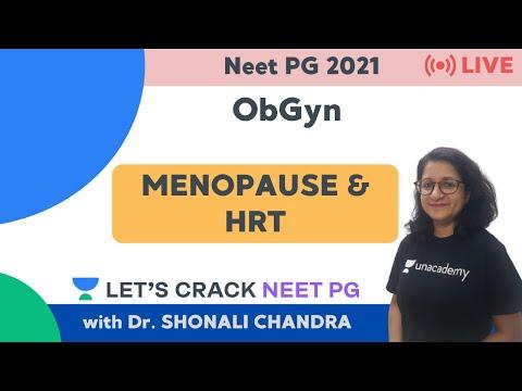 Menopause & HRT | ObGyn | NEET PG 2021 | Dr. Shonali Chandra