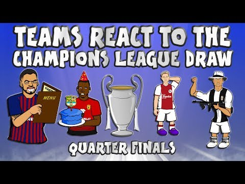 🏆TEAMS REACT TO THE QUARTER FINAL UCL DRAW🏆 (Champions League Draw 18/19)