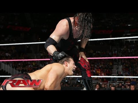 mask kane - Kane goes one-on-one with The Miz and then makes a big reveal for Stephanie McMahon.