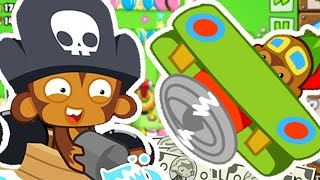 AIRPLANES AND MONKEY BUCCANEERS ONLY CHALLENGE! - BLOONS TOWER DEFENSE 5