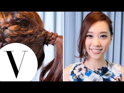 【髮型教學】看起來很厲害 卻超簡單的俏麗馬尾