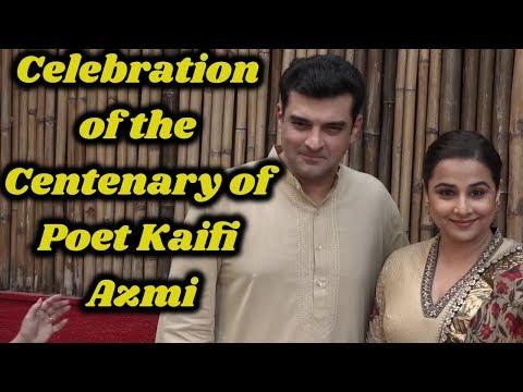 Vidya Balan and Siddharth Roy Kapoor to Celebrate the Centenary of Poet Kaifi Azmi