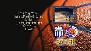 okk beograd kk sava 87 81 (juniori, 26 05 2018 ) košarkaški klub sava