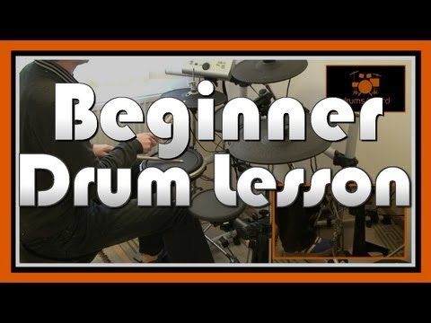 Drums - DOWNLOAD BEGINNER DRUM PACK - http://www.drumstheword.com/beginner-video-drum-lessons-starter-new-learn-how-play-drums-easy-download-drum-pack MORE FREE DRUM...