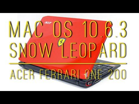Mac osx 10.6.3 SL on Acer Ferrari One 200