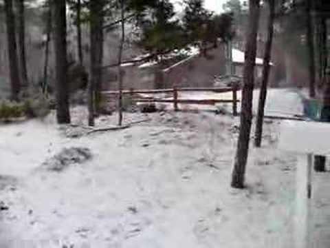 Neve!!! Primeira do ano de 2008 em East Quogue, NY.
