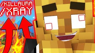 USING A HACK CLIENT IN MINECRAFT LUCKY BLOCK MONEY HUNT
