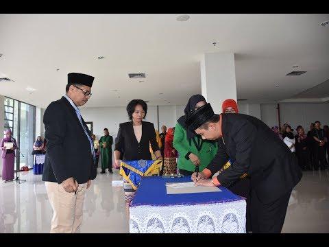 Dok Humas Untad, Serah Terima Jabatan Wakil Dekan FIsip & pengukuhan pengelola UPT Komisi