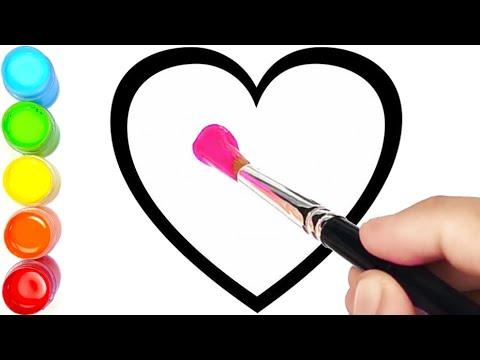 Menggambar Dan Mewarnai 6 Bentuk Hati #2 Warna Warni Glitter Untuk Anak-anak  | Ara Plays Art