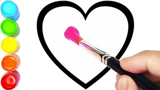 Menggambar Dan Mewarnai 6 Bentuk Hati Warna Warni Glitter Untuk Anak-anak  | Ara Plays Art