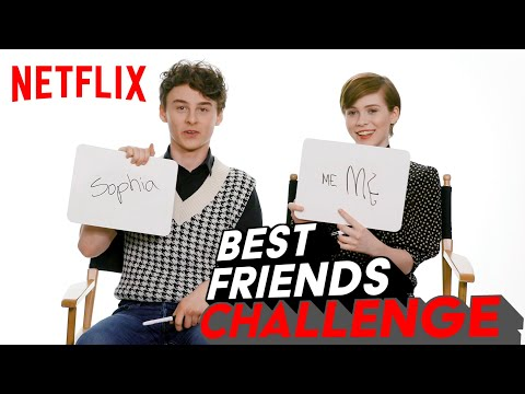Wyatt Oleff and Sophia Lillis BFF Test | I Am Not Okay With This | Netflix
