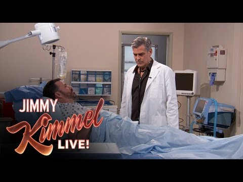 George Clooney Does Rappers Delight on Kimmel